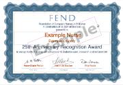 FEND recogntion award